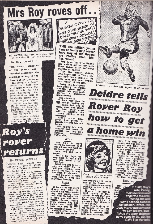 roy race headlines generated by barrie tomlinson