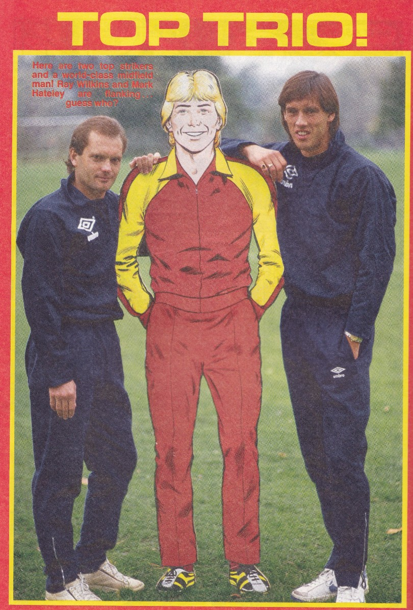roy race with ray wilkins and mark hateley