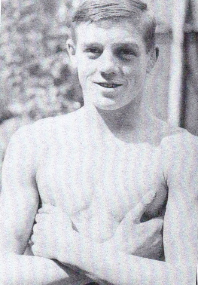 Pat Daly aged 16 before an 15 round fight with Kid Pattenden